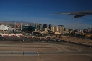 Las Vegas Airport: blik op The Strip bij vertrek