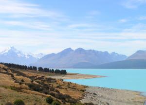 Onderweg naar Mt. Cook langs Lake Pukaki