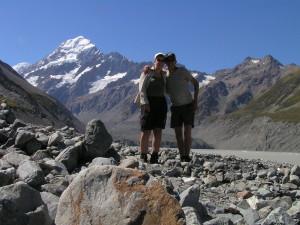 Mt. Cook met op voorgrond Hooker Glacier
