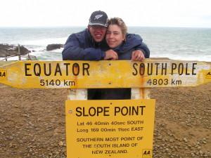 Storm en regen op het zuidelijkste punt van Nieuw Zeeland