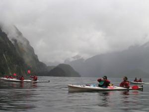 Kanoën over Doubtful Sound