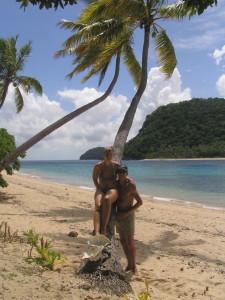 Op het strand van Naviti Island