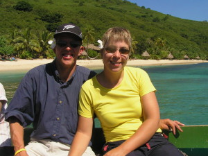 Vertrek vanaf Octopus Resort, Waya Island, Fiji