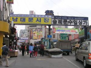 Ingang Nam Dae Mun markt, Seoel
