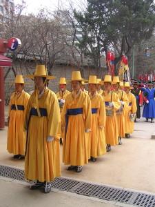 Ceremonie bij tempel Seoel