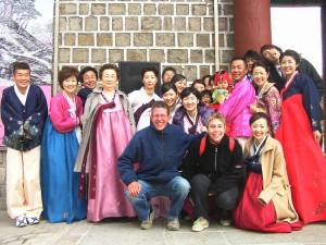 Familieportret met Koreaanse familie
