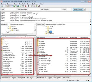 Installatie WordPress van PC naar webserver