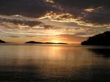 Zonsondergang nabij Coromandel Town